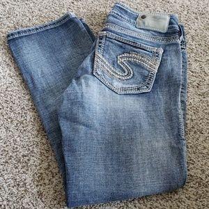 Silver Suki Crop Capri Jeans  - Size 27